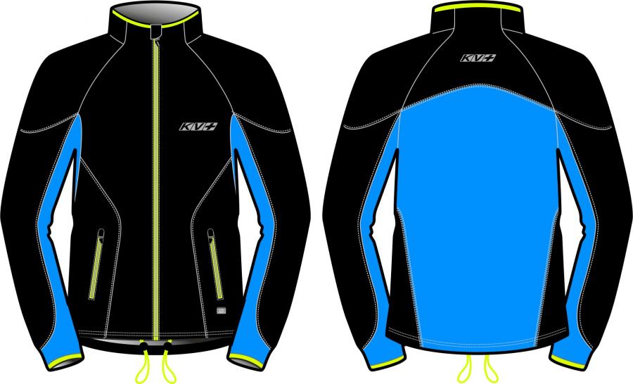 куртка разминочная kv+ lahti black/blue