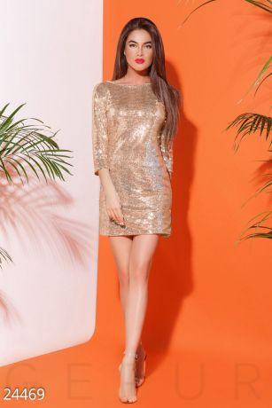Блистательное коктейльное платье 24469