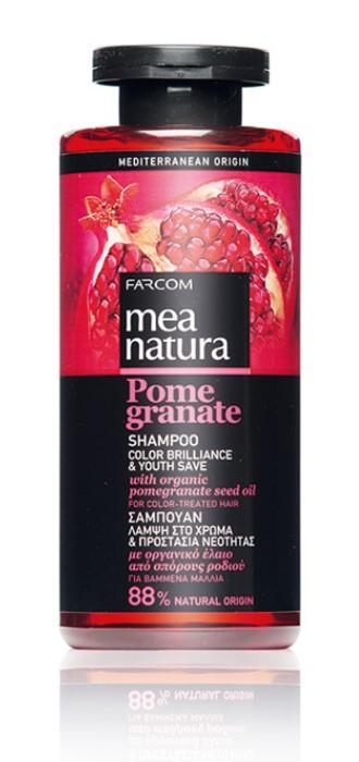 Mea Natura Pomegranate, Шампунь Сияние Цвета и Сохранение Молодости, 300 мл