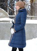 зимнее пальто с пояском