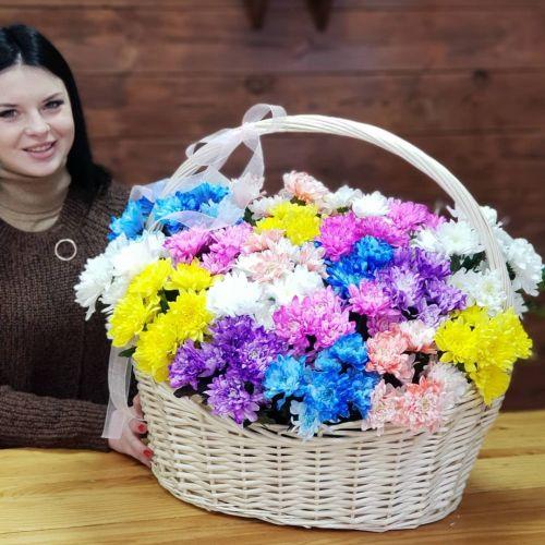 "Корзина цветов ""Яркие краски"""