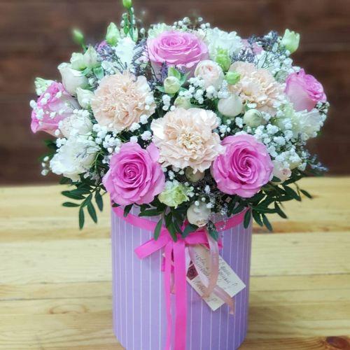 """Коробка цветов """"Всегда вместе"""""""