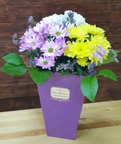 """Коробка цветов """"Кружево"""""""