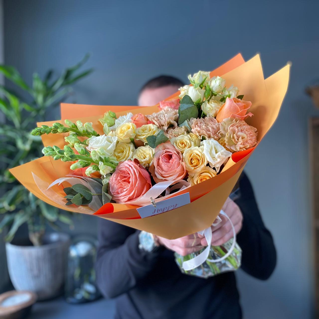 Букет цветов Теплая встреча