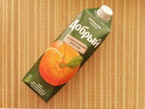 """Апельсиновый нектар с мякотью """"Добрый"""""""