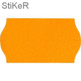 72149 Этикет-лента волна оранжевая 26х12 мм (10 рулонов по 1000 этикеток)