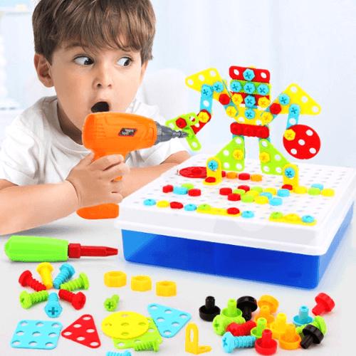 Конструктор-мозаика с дрелью Creative Magic Panel, 151 деталь