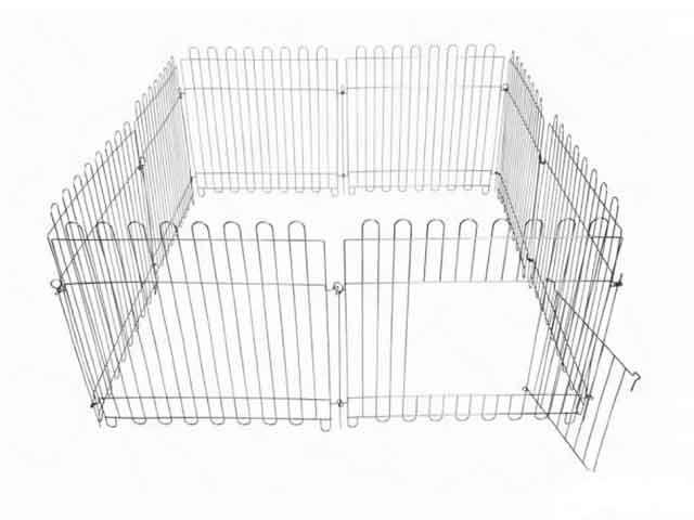 Вольер из 8 секций с дверкой  63х64 см