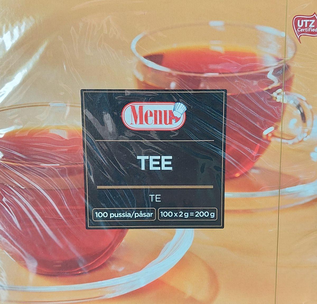 Чай Menu (черный) 100 пакетов