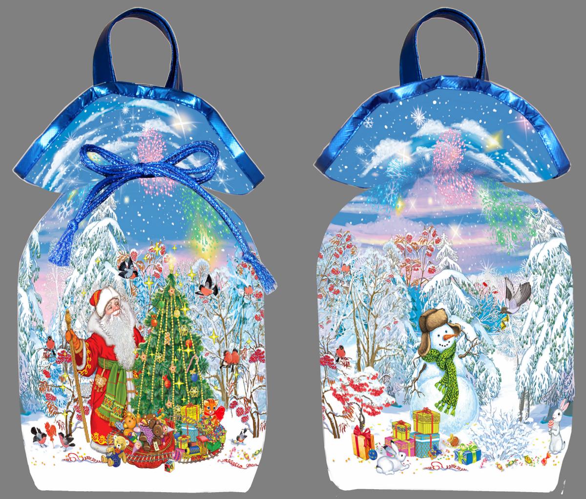 Дед мороз с елочкой 1500 грамм (белый)