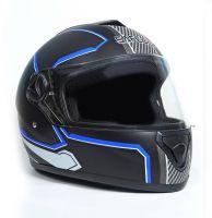 Шлем интеграл Safebet 112 matt black, blue фото 2