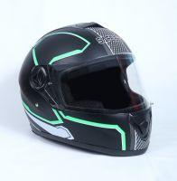 Шлем интеграл Safebet 112 matt black, green фото 2