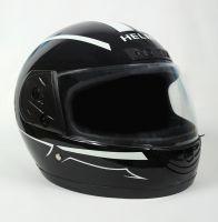 Шлем интеграл Helmo HZF03 Black-White фото 2