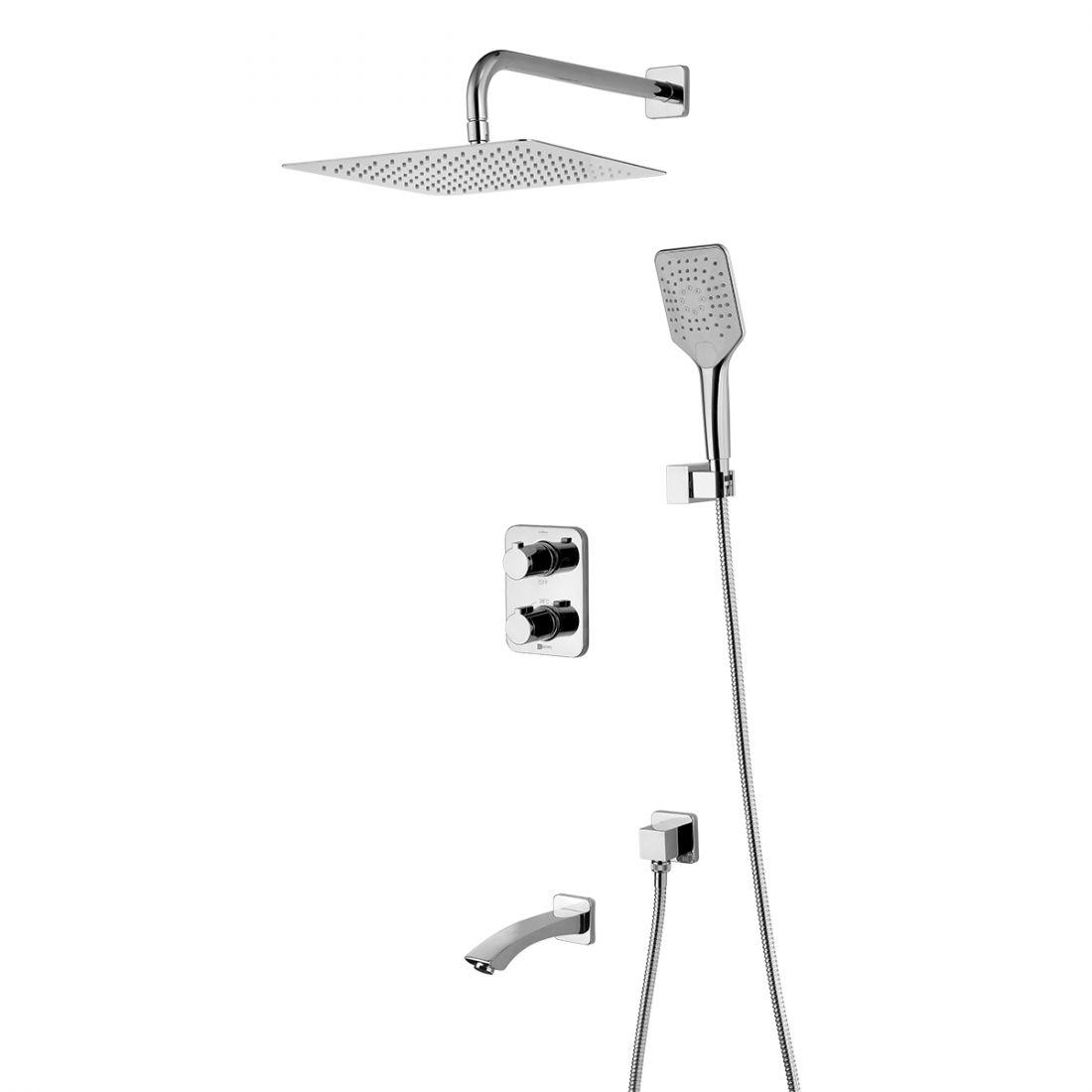 Душевая система Lemark Yeti термостатический для ванны и душа (LM7842С)