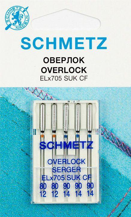 Игл Бытовые Schmetz ELx705 №80(2),90(3) 5шт для оверлоков