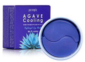 PETITFEE Agave Cooling Hydrogel Eye Patch 60шт - Охлаждающие гидрогелевые патчи с экстрактом агавы