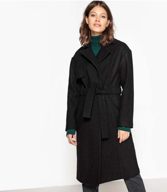 Пальто женское в форме халата- La Redoute Collections