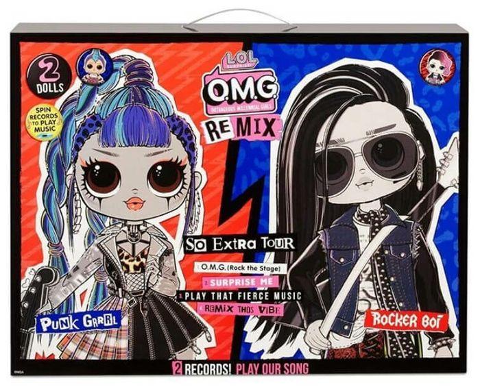 Набор кукол lol Remix OMG Punk Grrrl и Rocker Boi