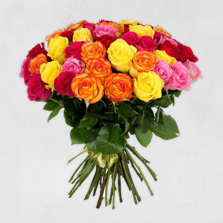 35 эквадорских роз (микс)