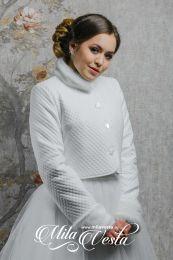 Утепленная свадебная курточка