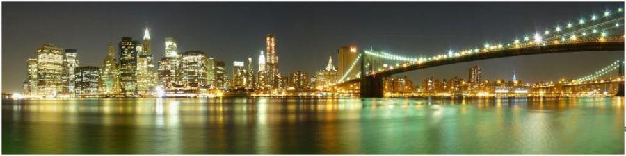 Кухонный фартук AG 02 Нью-Йорк город вечерний