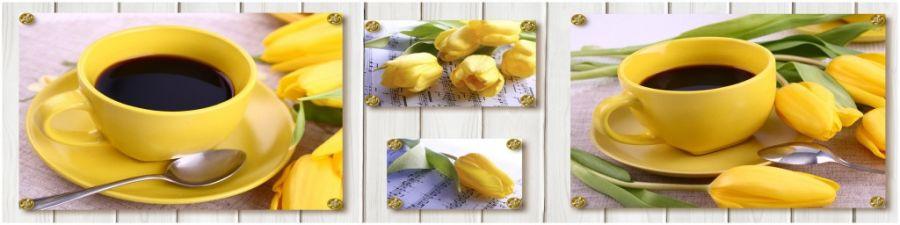 Кухонный фартук AG 20 -Желтые тюльпаны цветы