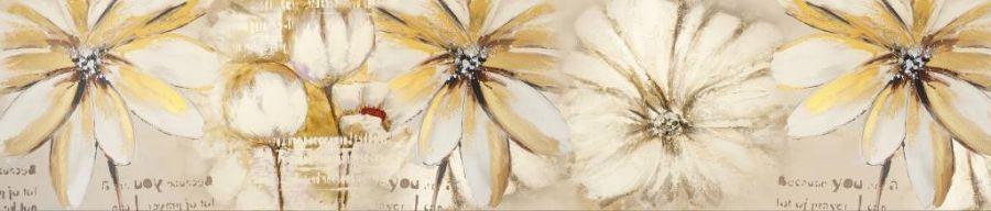 Кухонный фартук BS 198 - Абстракция цветы