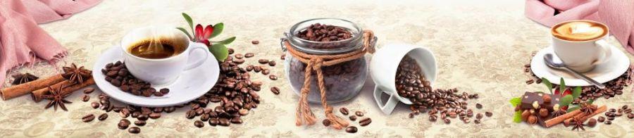 Кухонный фартук TOP 33 - Кофейная ностальгия
