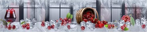 Кухонный фартук TOP 35- Зимняя вишня окна лед