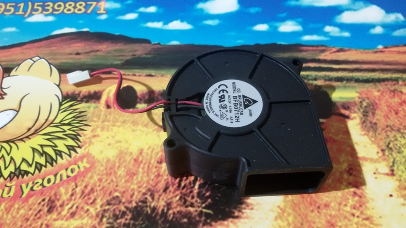 Вентилятор радиальный (центробежный) Дельта BFB0712H 75х75х30мм 12Вольт