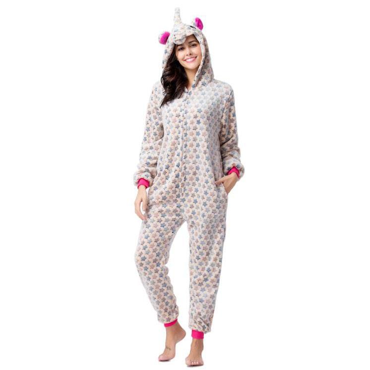 Пижама Кигуруми Единорог Звездный Бежевый