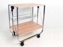 Складной сервировочный столик SA016 (состаренное дерево)