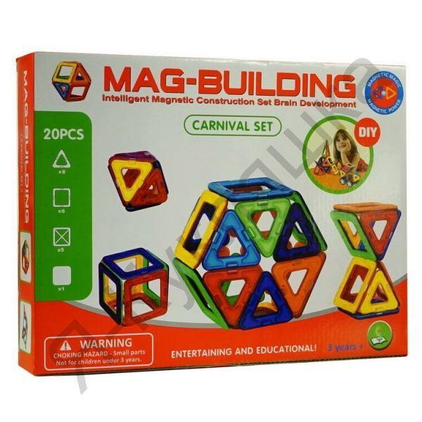 Магнитный конструктор MAG BUILDING, 20 деталей