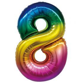 """Фигура """"8"""", 34""""/ 86 см, радуга"""
