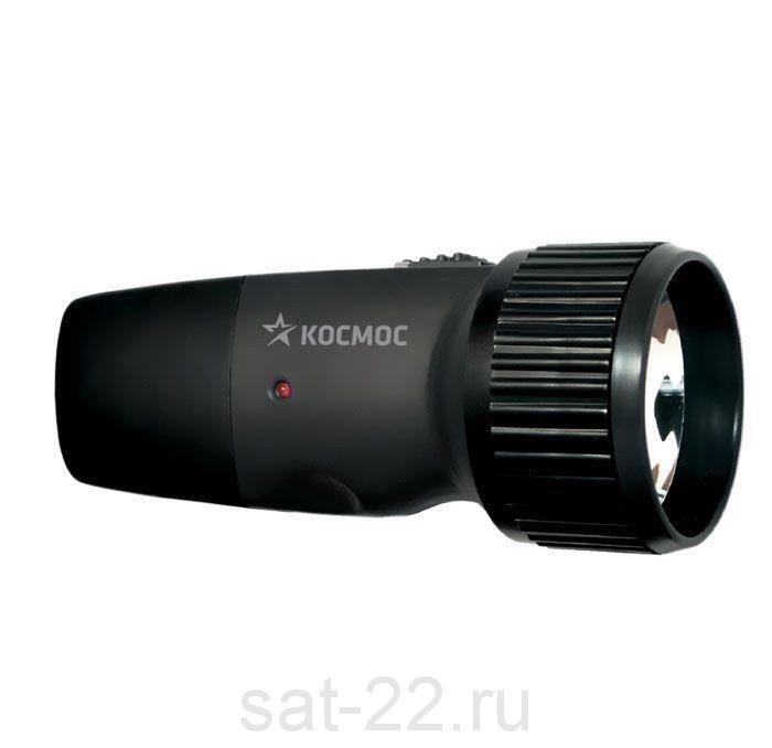 Фонарь Космос светодиодный аккум. 1*AA аккумулятор, 5LED евровилка