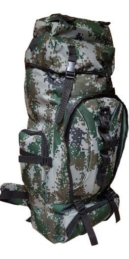 Военно-туристический рюкзак на 85л цвет зелено-серый пиксель