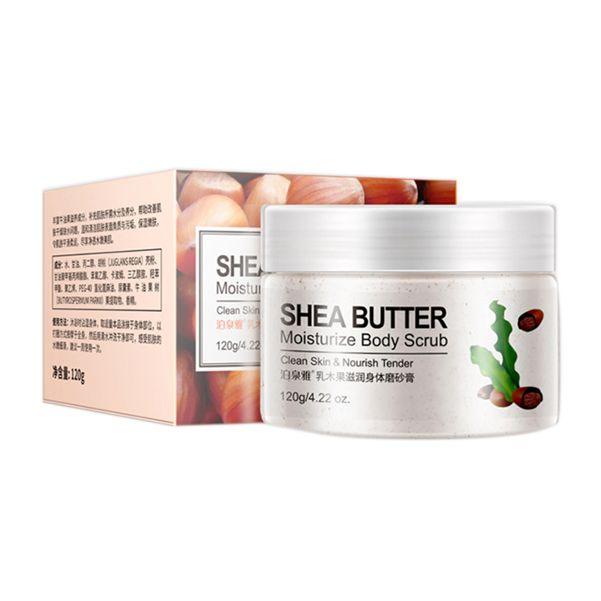 BioAqua Питательный скраб-дренаж для тела с маслом Ши (карите)