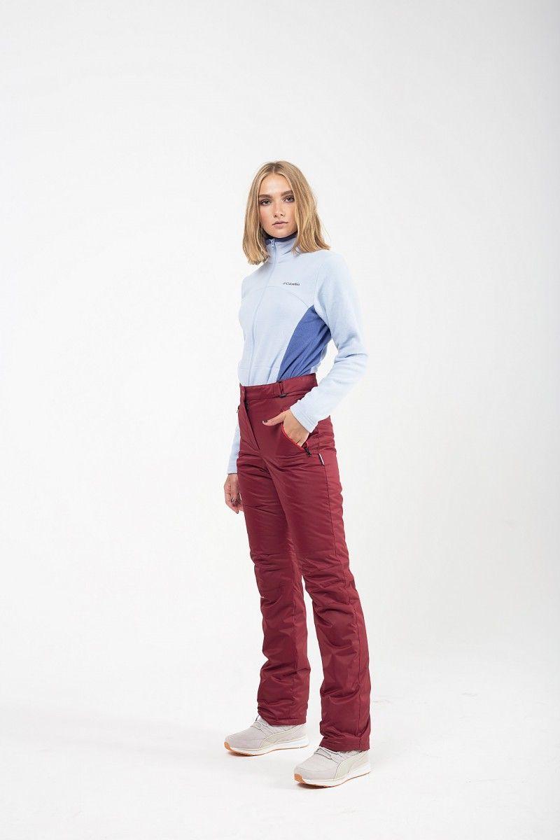 Утепленные женские брюки мембрана бордо HEIDEN вид3