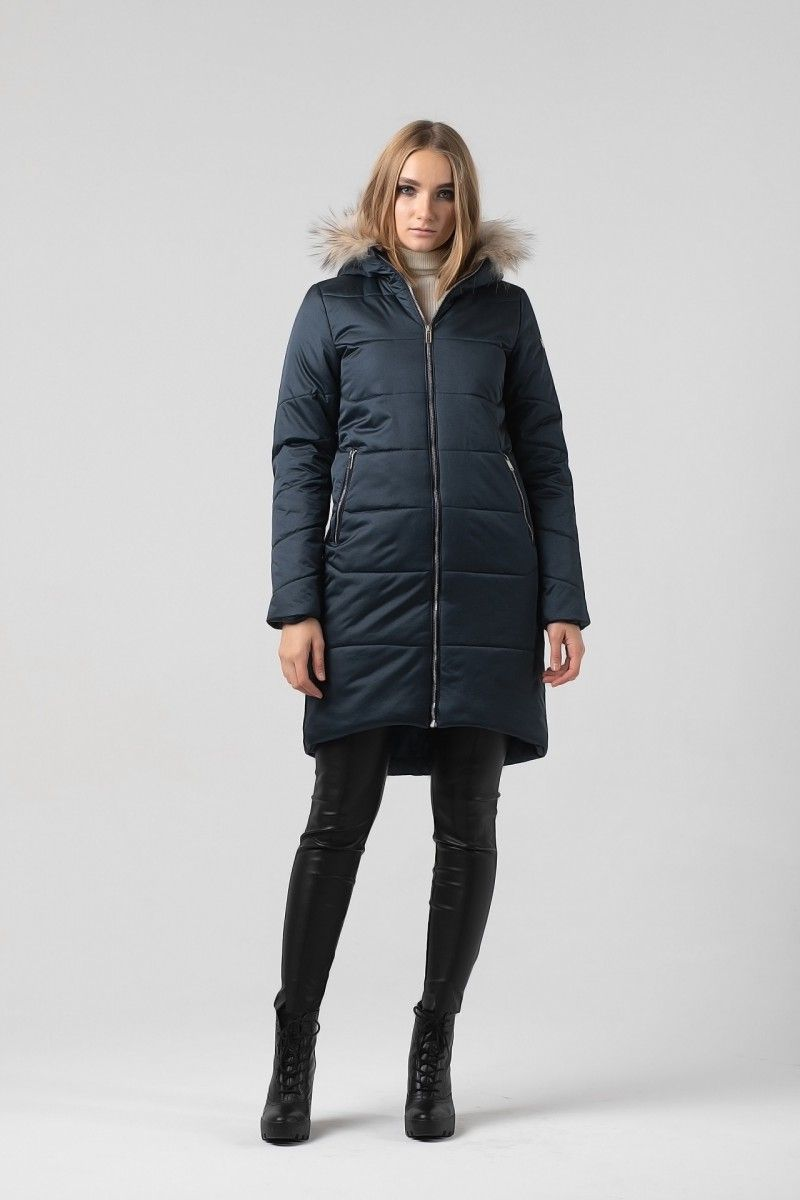 Пальто женское HEIDEN цвет темно синее вид5