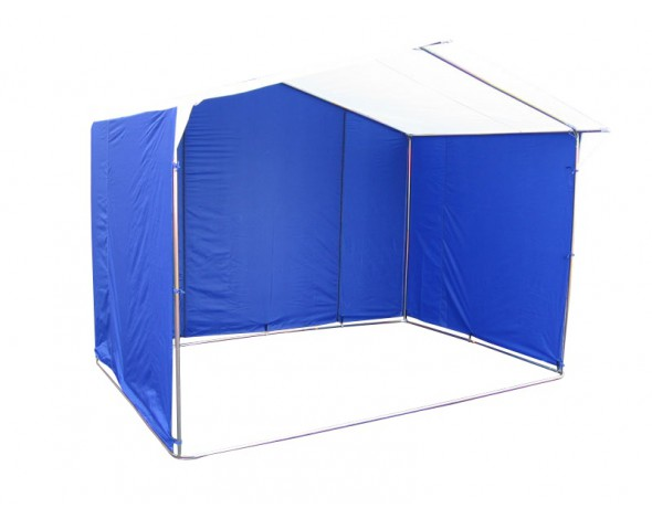 Палатка торговая 2,0 х 2,0, разборная «Домик», бело-синяя