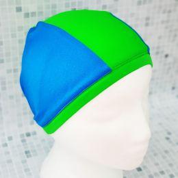 Синяя/зеленая Текстильная шапочка для плавания