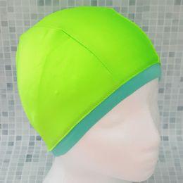 Салатовая Текстильная шапочка для плавания
