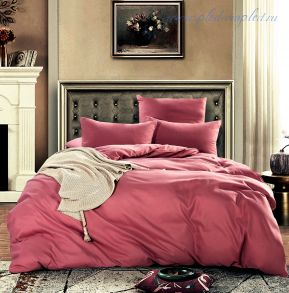 Комплект постельного белья однотонный Коралловый