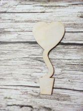 заготовка-основа для магнита-топиария вид 2 (в форме сердца) размеры 7*15 см толщина 4 мм
