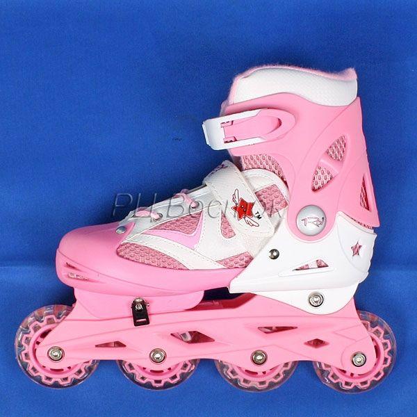 коньки роликовые розовые