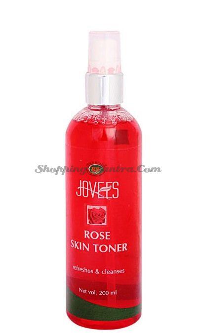 Тоник для лица и шеи из лепестков роз Джовис / Jovees Skin Toner Rose