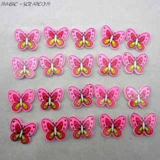 Декоративные бабочки из пластика
