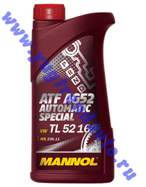 MANNOL Трансм. масло  Automatc Special ATF AG52  ( 1л.)