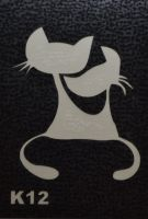 Трафареты для боди-арта, био-тату K12
