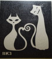 Трафареты для боди-арта, био-тату BK3